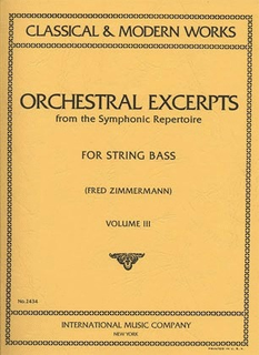 International Music Company Zimmerman, Fred: Orchestral Excerpts Vol.3 (bass) IMC