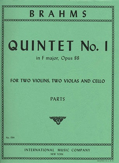 International Music Company Brahms: Quintet Op.88 No.1 (2 violins, 2 violas, cello)