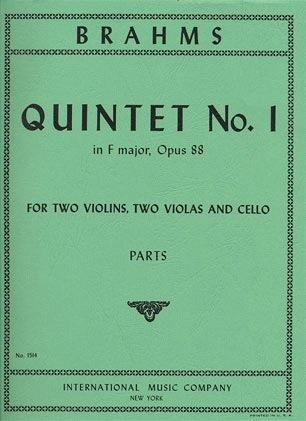 International Music Company Brahms: Quintet Op.88 No.1 (2 violins, 2 violas, cello)