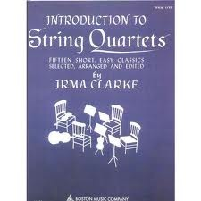 HAL LEONARD Clarke, Irma: Introduction to String Quartets Vol.1 (score & parts, optional 3rd violin part is the same as the viola part)