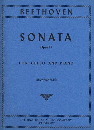 International Music Company Beethoven (Rose): Sonata for Piano & Horn or Cello Op.17 (cello & piano)
