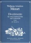 Mozart, W.A.: Divertimento in D, K136 (string quartet)