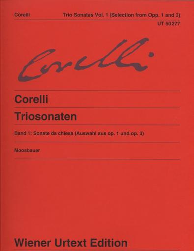 Carl Fischer Corelli, A.: Trio Sonatas Vol. 1; Sonata da chiesa, Op. 1 and Op. 3, urtext (2 violins, cello, and piano)