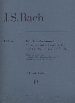 HAL LEONARD Bach, J.S. (Heinemann, ed.): Three Sonatas for Viola da Gamba and Harpsichord, BWV 1027-1029, urtext (cello & piano)