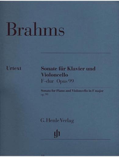 HAL LEONARD Brahms, J. (Voss & Behr): Sonata in F Major, Op.99 - URTEXT (cello & piano)