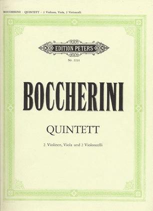 Boccherini, Luigi: String Quintets (2 violins, viola, 2 cellos)