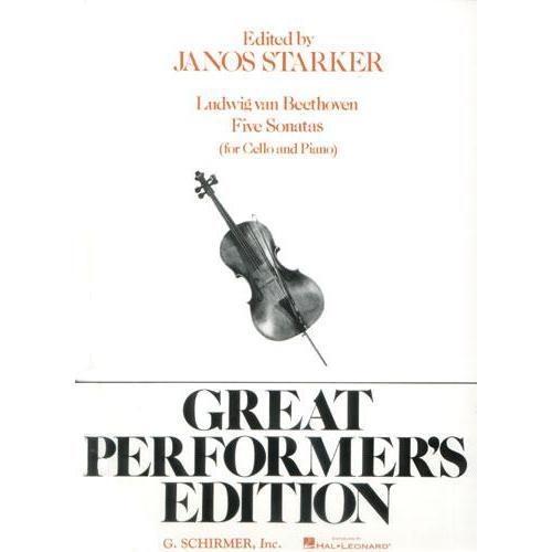 HAL LEONARD Beethoven (Starker): Five Sonatas for Cello & Piano