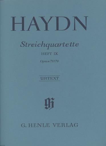 """HAL LEONARD Haydn, F.J. (Feder, ed.): String Quartets, Vol.9 Op71 and Op. 74,  """"Appony-Quartets"""", urtext (2 violins, viola, and cello)"""