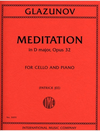 International Music Company Glazunov, Alexander: Meditation in D major, Op. 32 (cello & piano)