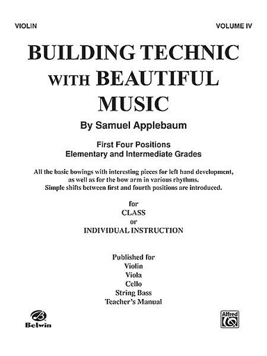 Alfred Music Applebaum: Building Technic with Beautiful Music Vol.4 (cello)