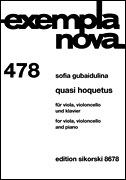 HAL LEONARD Gubaidulina, S.: Quasi Hoquetus 478 (viola, cello, and piano)