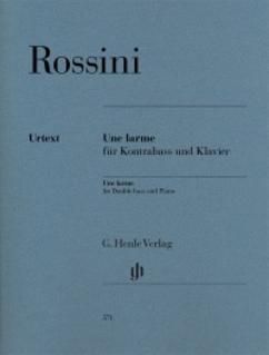 HAL LEONARD Rossini, G. (Henle): Une larme (double bass) Urtext