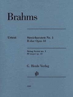 HAL LEONARD Brahms: Sextet in Bb major, Op.18 - URTEXT (string sextet) Henle Verlag
