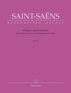 Barenreiter Saint-Saens, Camille (urtext): Allegro Appassionato for Violoncello with Piano, op. 43, Barenreiter