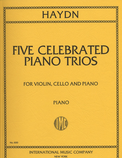 International Music Company Haydn, F.J.: Five Celebrated Trios International edition (violin, cello, piano)