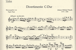 Haydn, Michael: Divertimento in C (violin, Viola & cello)