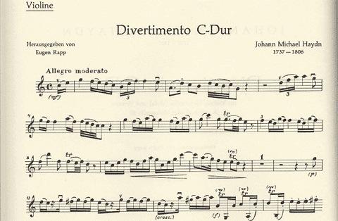 Haydn, Michael: Divertimento in C (violin, Viola & cello)
