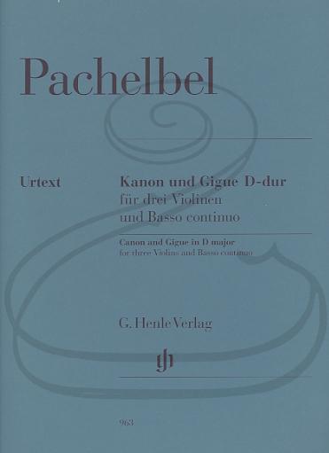 HAL LEONARD Pachelbel (Müllemann): Canon & Gigue in D Major - URTEXT (3 violins & basso continuo), classical, Henle Verlag