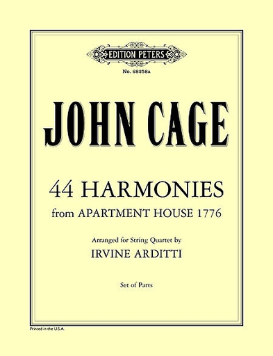 Cage, John: 44 Harmonies from Apartment House 1776 (string quartet) parts
