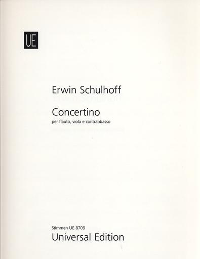 Carl Fischer Schulhoff, E.: Concertino (Flute, Viola, and Double Bass)