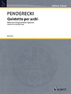 HAL LEONARD Penderecki, K.: Quintetto Per Archi (string quintet: 2 violins, viola, cello, and bass)