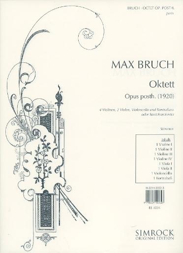 HAL LEONARD Bruch, Max: String Octet, Op. Posthumous (4 Violins, 2 Violas, 2 Cellos)