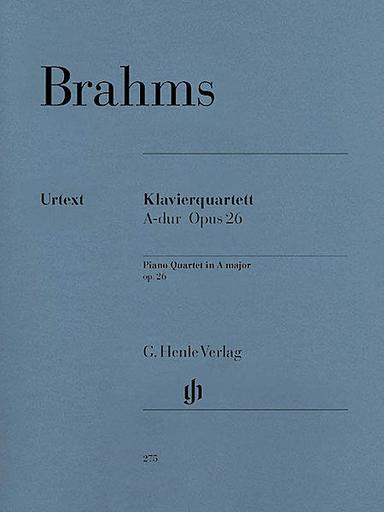 HAL LEONARD Brahms, J. (Krellmann, ed.): Piano Quartet, Op. 26 in A Major, urtext (violin, viola, cello, and piano)