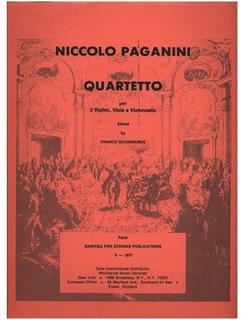 Rarities for Strings Paganini, Niccolo (Sciannameo): Quartetto, String Quartet in E