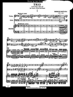 International Music Company Smetana, B.: Trio in G minor Op.15 (violin, cello, piano)