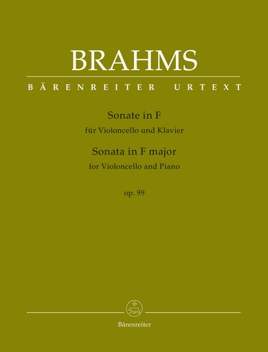 Barenreiter Brahms, Johannes.: Sonata F major, Op.99 (cello & piano) Barenreiter Urtext