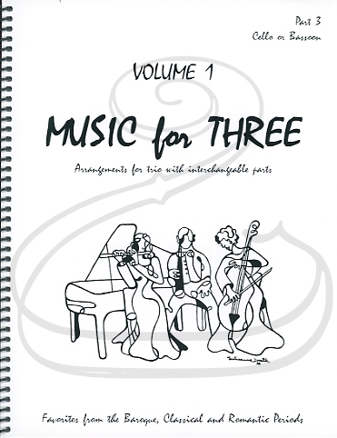 Last Resort Music Publishing Kelley: Music for Three, Vol.1, Part 3 - Favorites from the Baroque, Classical & Romantic Periods (cello/bassoon) Last Resort
