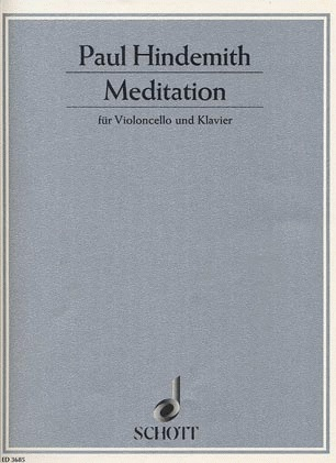 HAL LEONARD Hindemith, P.: Meditation from Nobilissima Visione (cello and piano)