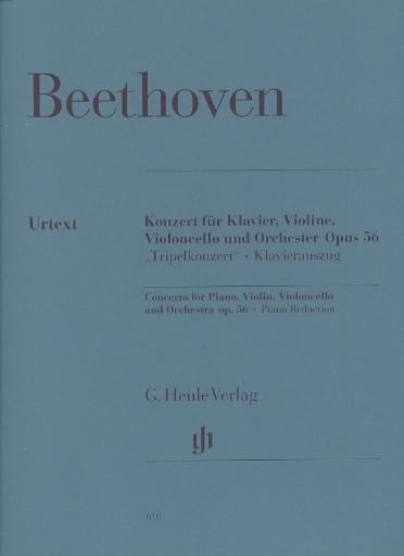 """HAL LEONARD Beethoven, L.V. (Linde): Concerto in C Major for Pianoforte, Violin, Violoncello, and Orchestra, Op.56 """"Triple Concerto"""" urtext (violin, cello, piano, & piano reduction)"""