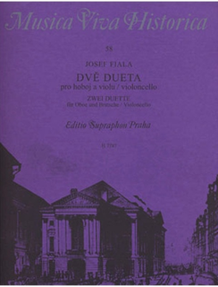 Barenreiter Fiala, Josef: Two Duets for Oboe and Viola or Cello