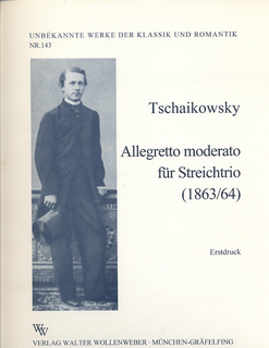 Wollenweber Tchaikovsky, P.I.: Allegro moderato-1864/5 (violin, viola, cello) score & parts