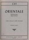 International Music Company Cui, Cesar: Orientale-Kaleidoscope, Op.50 No. 9 (cello & piano)