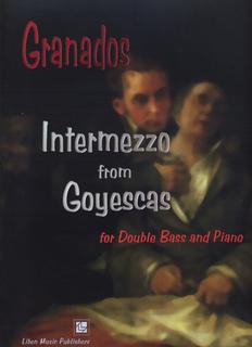 Granados, Enrique: Intermezzo (bass & piano)