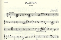 Wollenweber Lidel, Andreas: Quartet Op.7 and 4 (flute, violin, viola, cello) parts