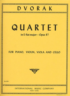 International Music Company Dvorak, Antonin: Piano Quartet In Eb major Op.87 (violin, viola, cello, piano)