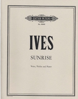 Ives, C.: Sunrise (Voice, Violin & Piano, score only)