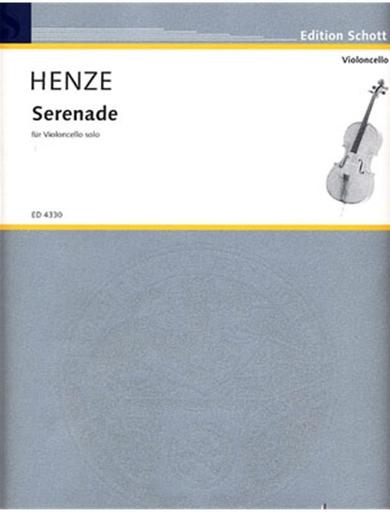 HAL LEONARD Henze, Hans Werner: Serenade (solo cello)