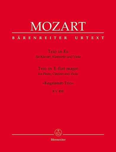 Barenreiter Mozart, W.A.: Kegelstadtt Piano Trio in Eb (clarinet, viola, piano or violin, viola, piano)
