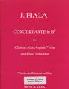 Fiala, Josef: Concertante in Bb (clarinet, Viola & piano)