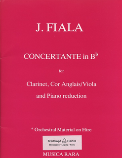 Fiala, Josef: Concertante in Bb (clarinet, Viola & piano)