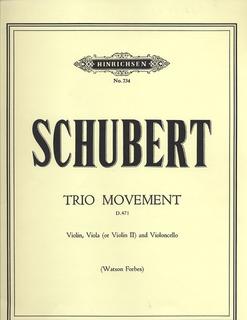 Schubert, Franz: Trio Movement in Bb D471 (violin, viola, cello)