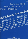 Fink, L.etc.: Quick Steps to Note Reading Vol.2 (cello)