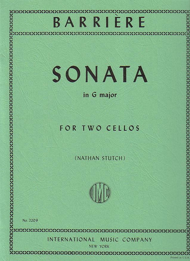 International Music Company Barriere (Stutch): Sonata in G Major (2 cellos) IMC