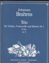 Brahms, Johannes: Trio No. 1 in B major, Op.8 (violin, Cello & piano)