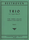 International Music Company Beethoven, L.von: Trio in C major, Op.87 (3 cellos)