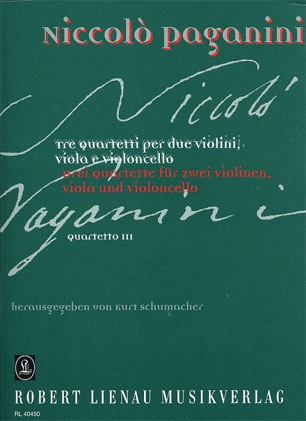 Paganini, Niccolo: String Quartet No. 3